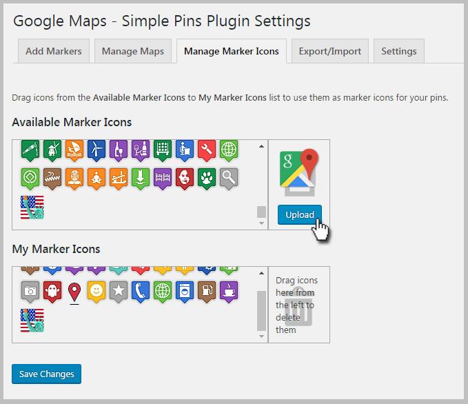 Google Maps Markers Icons List - BerkshireRegion