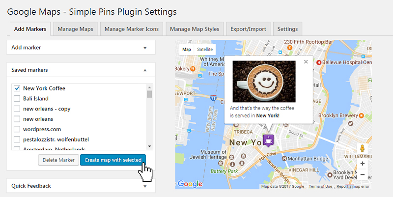 Google Maps - Simple Pins PRO - 10